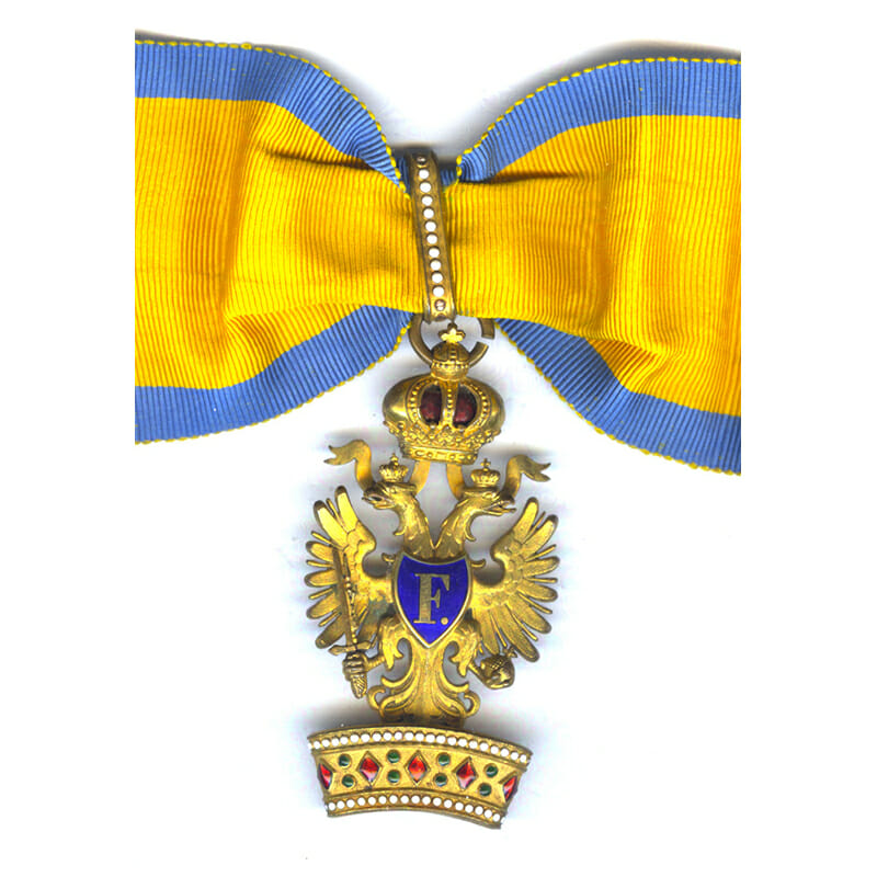 Order of the Iron Crown 2nd class neck badge in bronze gilt 1