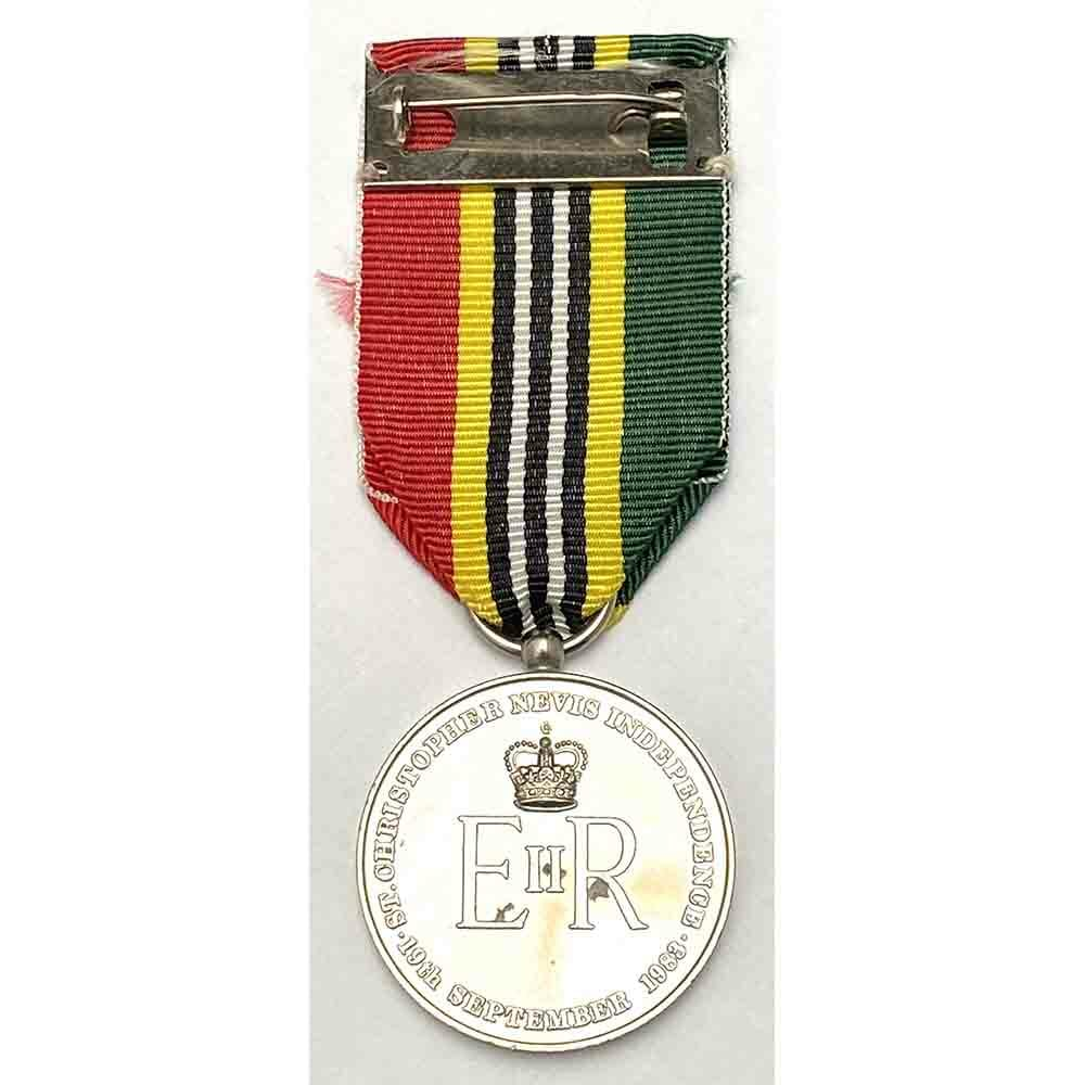 St Kitts and Nevis Independence Medal 2