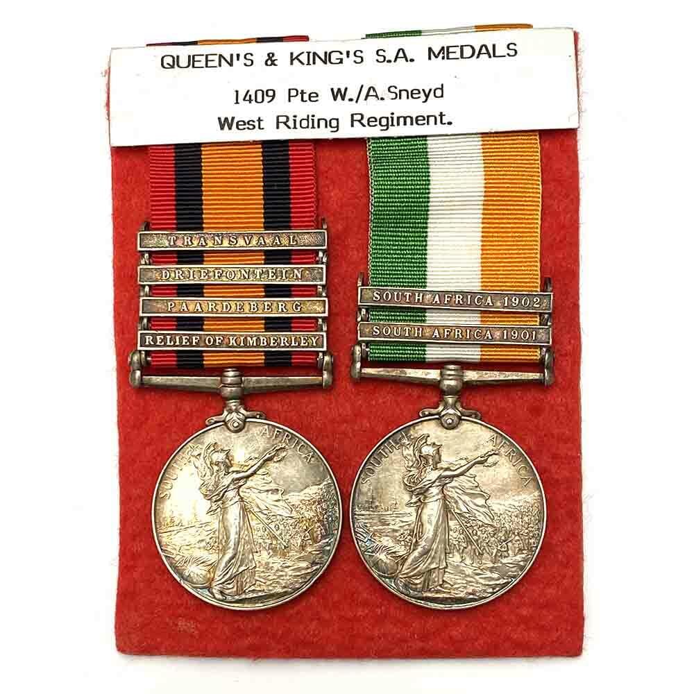 QSA KSA Boer War Pair West Riding Regiment 2