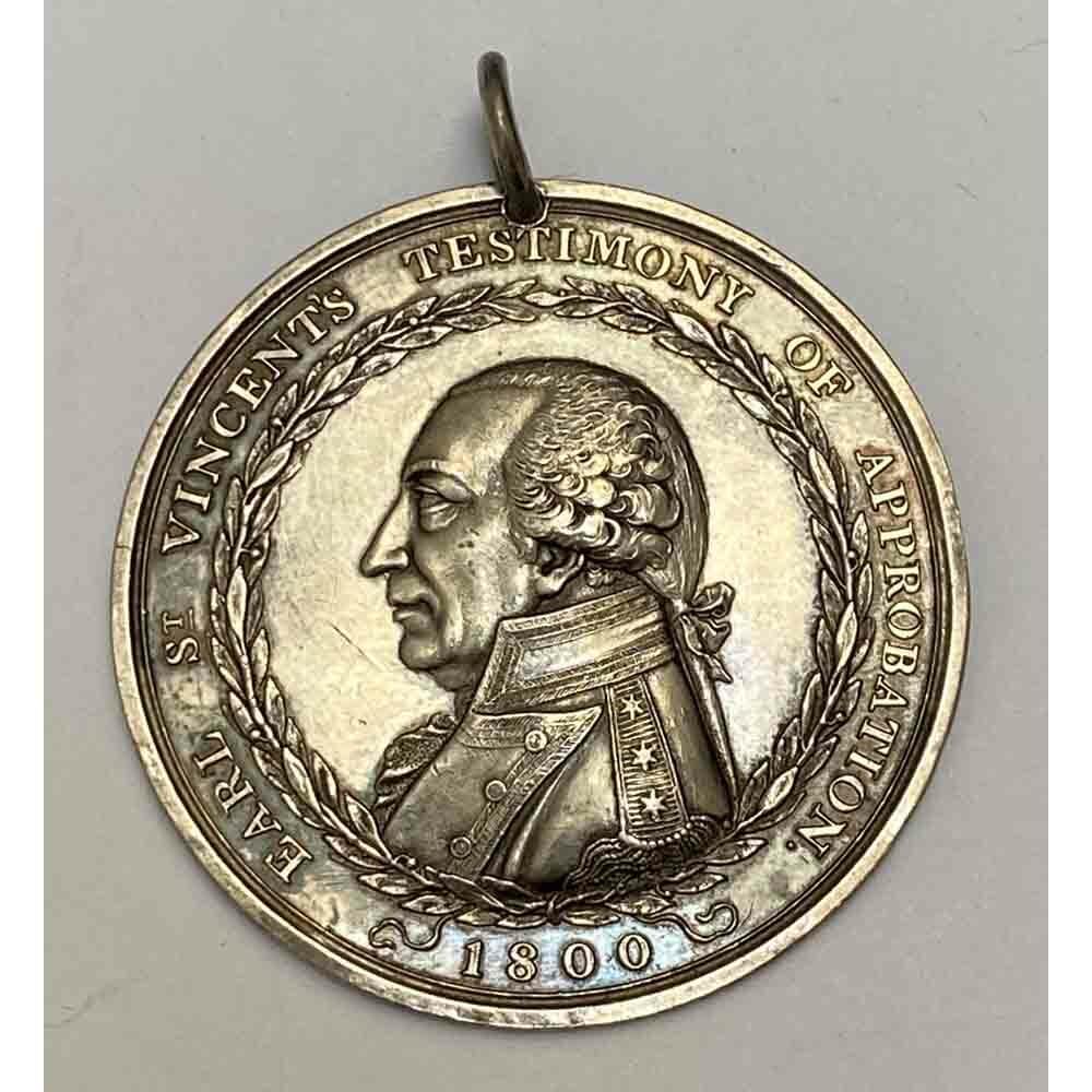 Earl St Vincent's Testimony of Approbation medal 1800 1