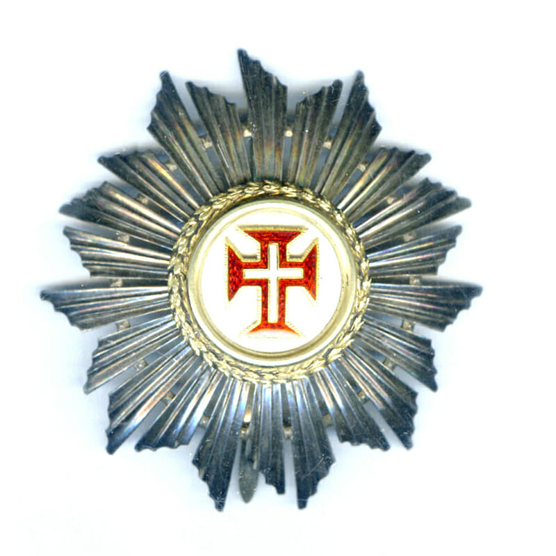 Order of Christ  Grand Cross breast star republic 1