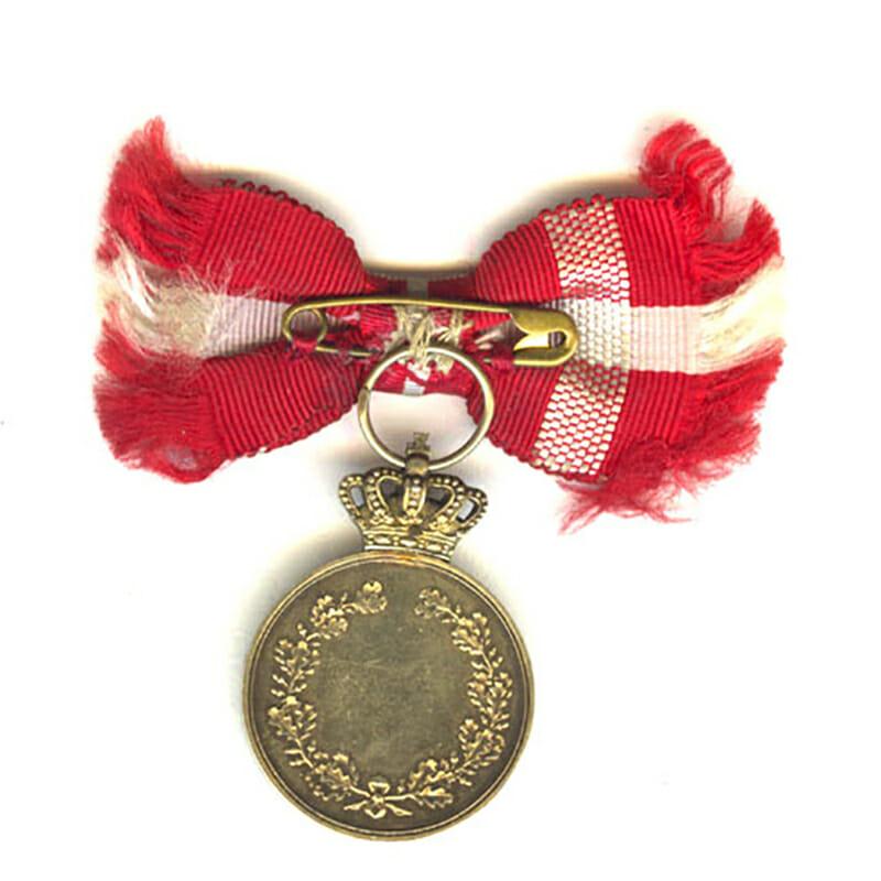Medal of Recompense Frederick IX  silver gilt 2