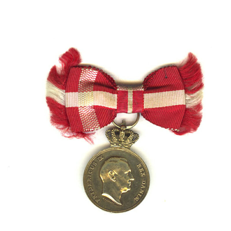 Medal of Recompense Frederick IX  silver gilt 1