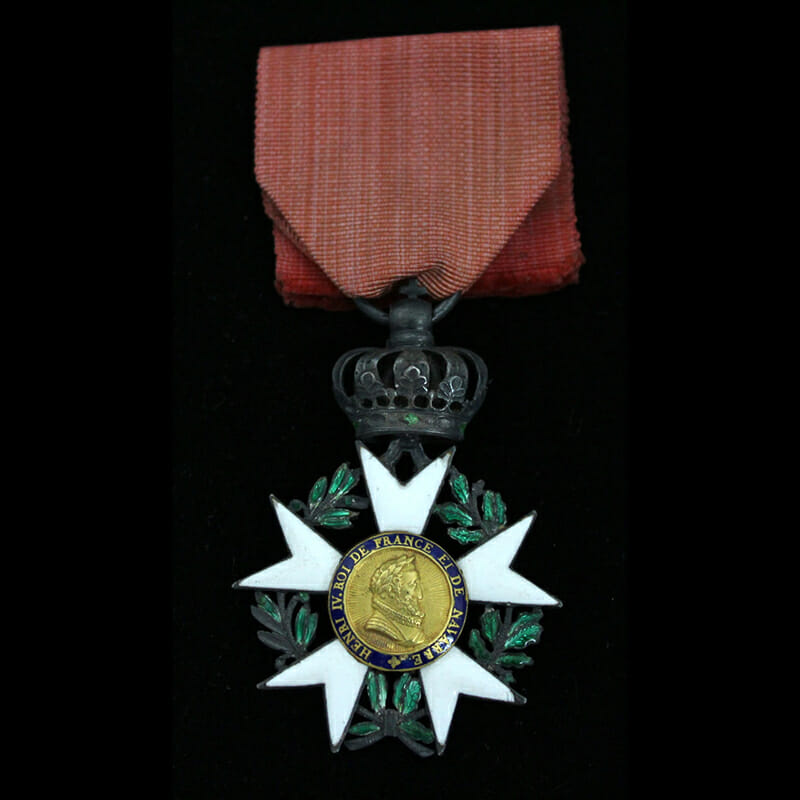 Legion D'Honneur  Knight  1st Empire 3rd type modified with the centres of... 1