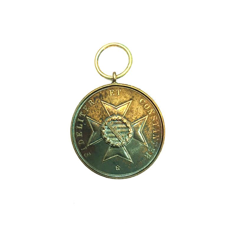 House Order of Saxe Ernestine Ernst II golden  merit medal silver gilt 2