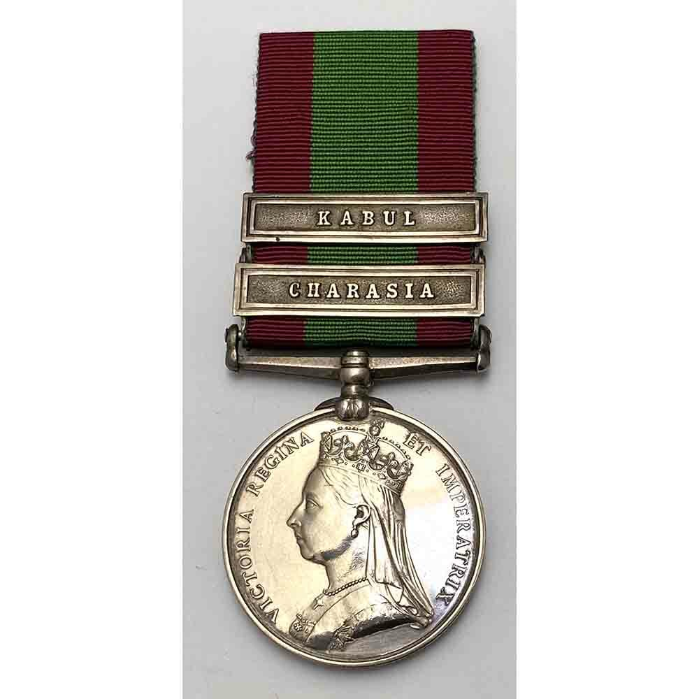 Afghanistan Medal, bars Charasia, Kabul 67th Foot 1