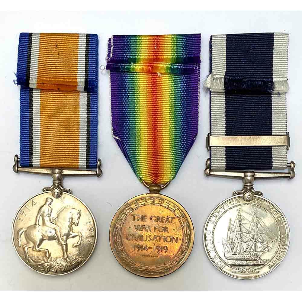 WW1 Pair Navy LSGC Second Award Bar 2