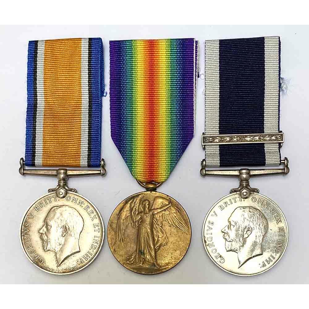 WW1 Pair Navy LSGC Second Award Bar 1