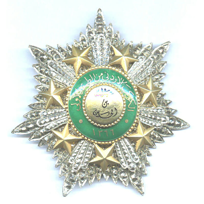 Order of the Star Grand Cross sash badge and breast star cased 2