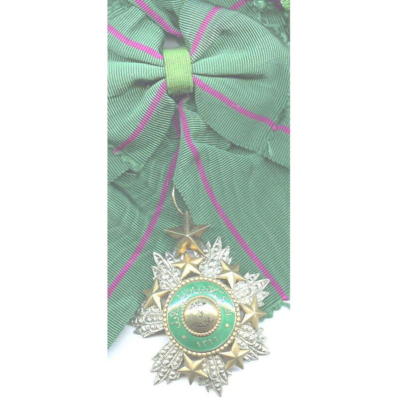 Order of the Star Grand Cross sash badge and breast star cased 1