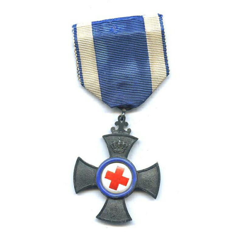 Red Cross Merit Cross for  Volunteer War Aid  1901-1918 1