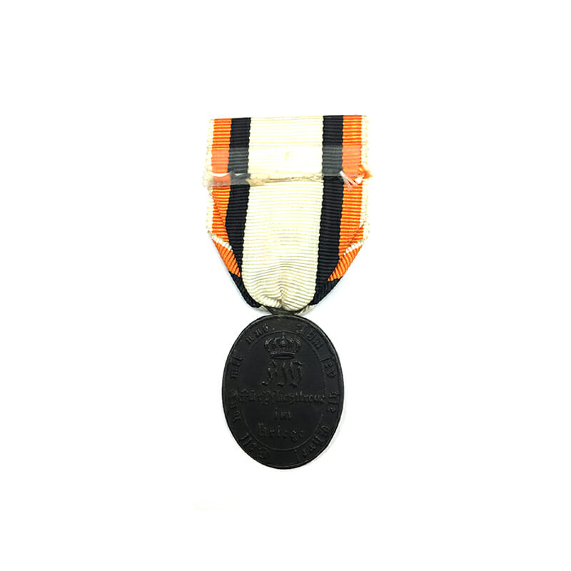 1815 Waterloo War medal Waterloo non-combattant in blackend Iron with replacement... 2