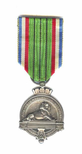 Belfort medal 1870-71 rare 1