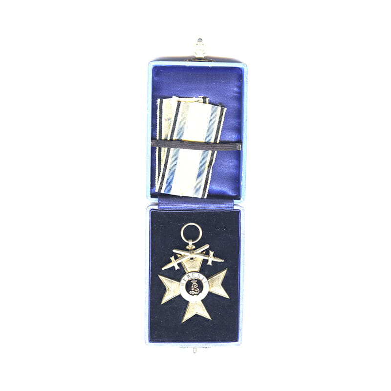 Military Merit Cross 2nd class with   swords 1913-1921 in fitted embosssed case... 5