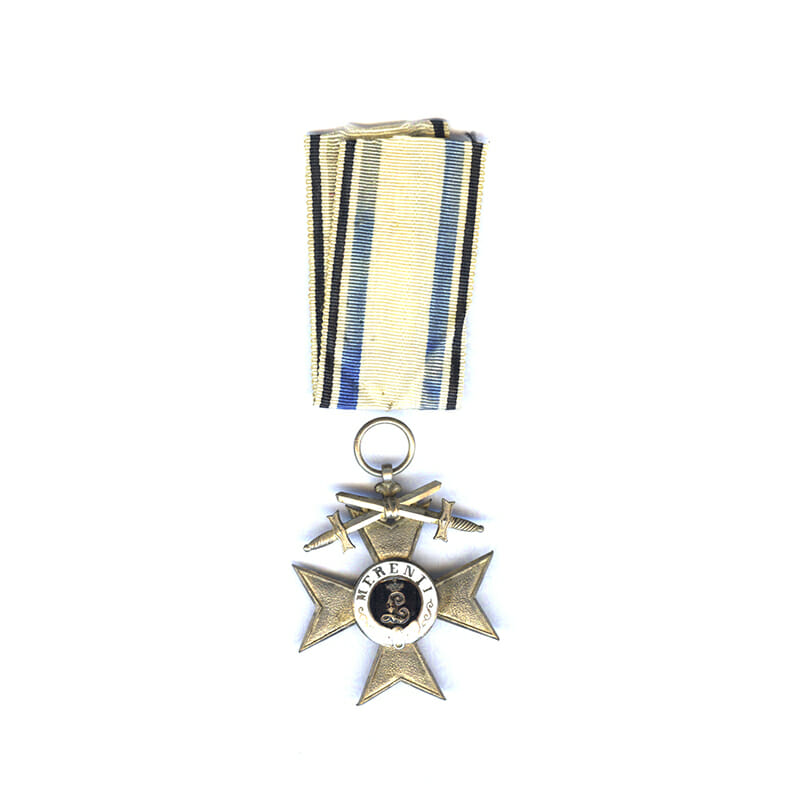 Military Merit Cross 2nd class with   swords 1913-1921 in fitted embosssed case... 1