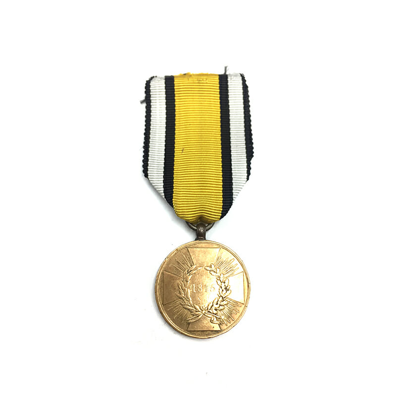 1815 Waterloo War medal with squared arms 1