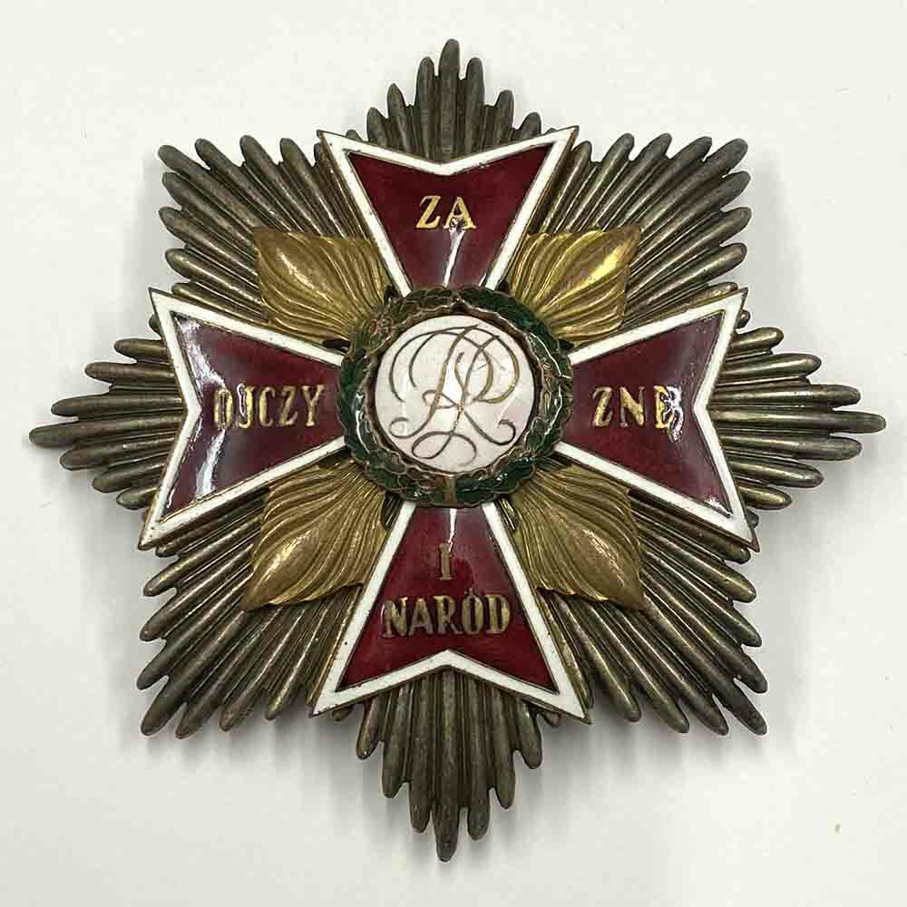 Order of The White Eagle breast star 1
