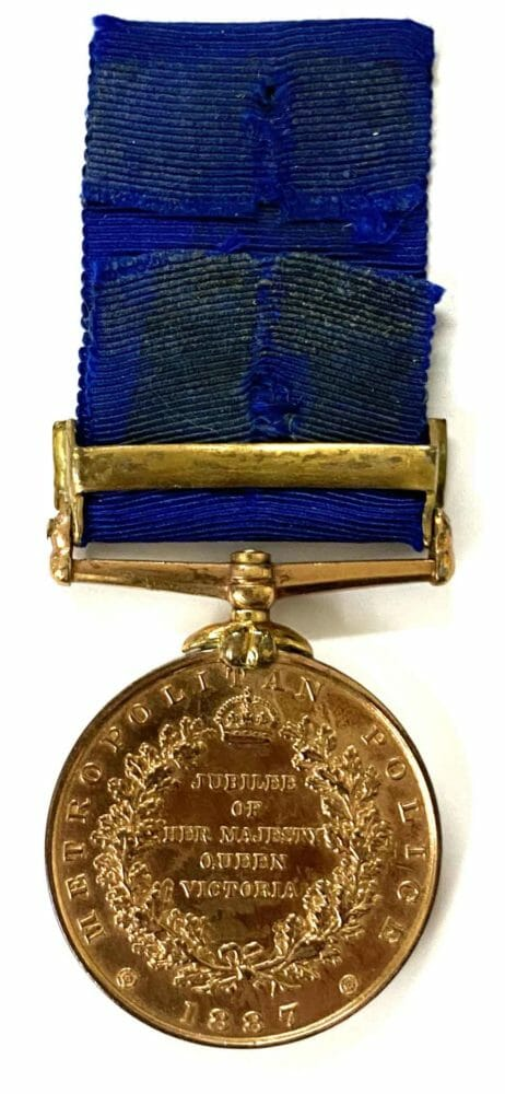 QV Police Jubilee Medal 1887 bar 1897 2