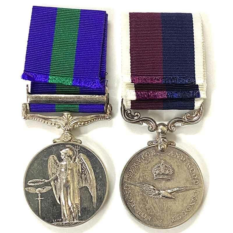GSM Malaya RAF LSGC Squadron Leader 2