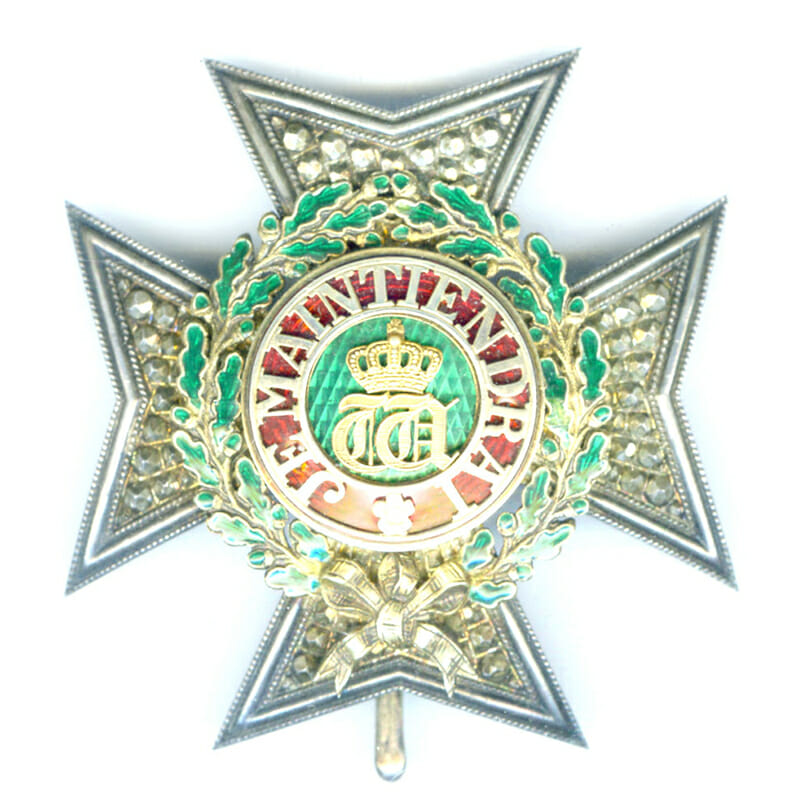 Order of the Oaken Crown Grand Officer  breast star  and neck badge... 1