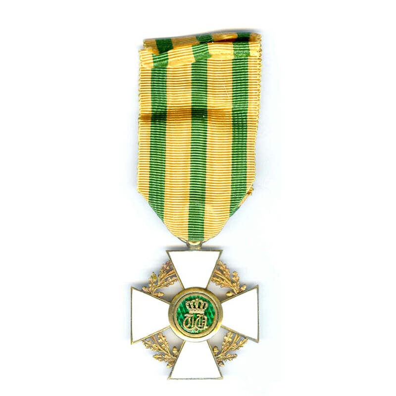 Order of the Oaken Crown Officer silver gilt with gold centre superb... 2