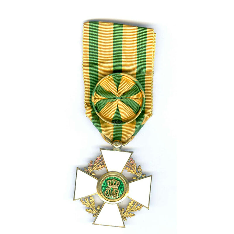 Order of the Oaken Crown Officer silver gilt with gold centre superb... 1
