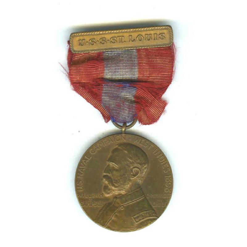 Sampson Medal top bar U.S.S.  St. Louis 1