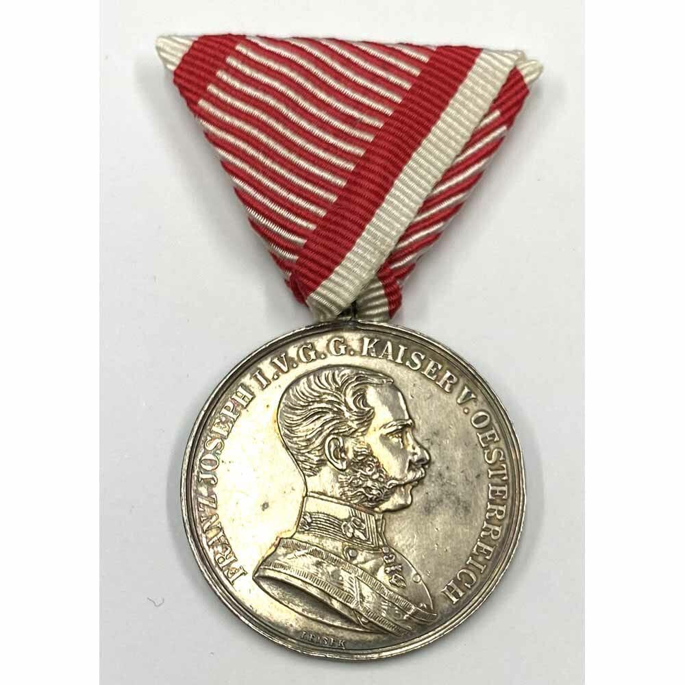 Medal for Bravery Franz Joseph I, 1866-1914 large silver 1