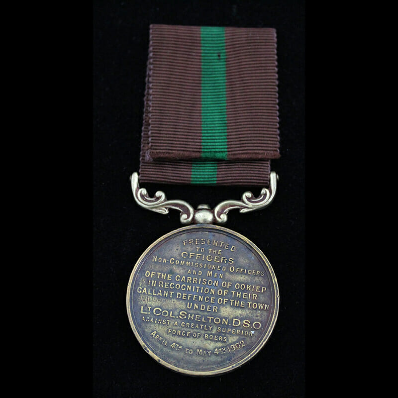 Cape Copper Company Medal for the Defence of O'okiep 2