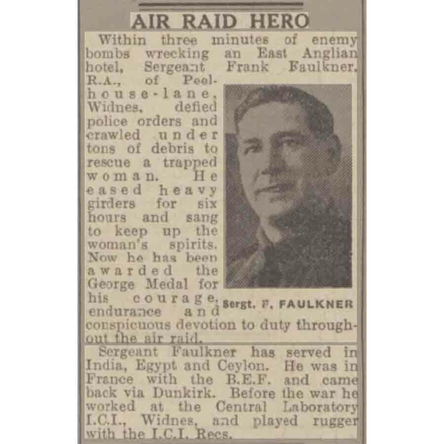 George Medal King's Lynn Air Raid 1942 3