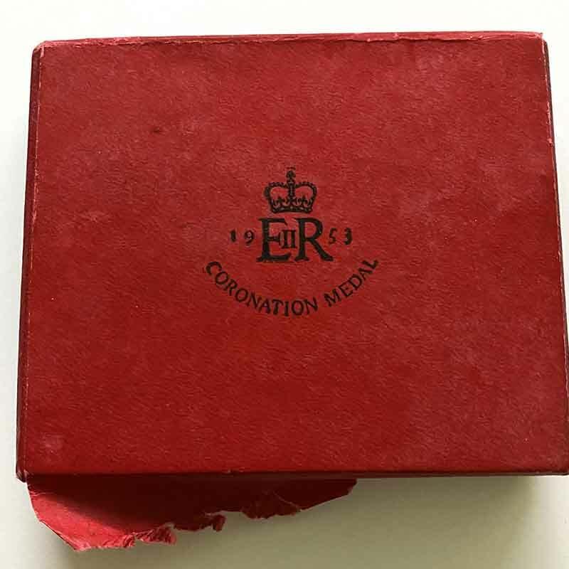 1953 Coronation medal EIIR Ladies bow 2