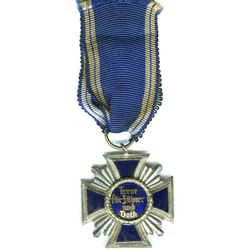 N.S.D.A.P Long Service award 15 years heavy quality old copy  silvered and... 2