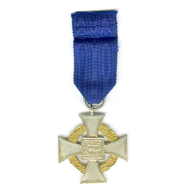 Faithful Service Cross 25 years  gilt denazified issue good quality(L21442)  E.F... 2