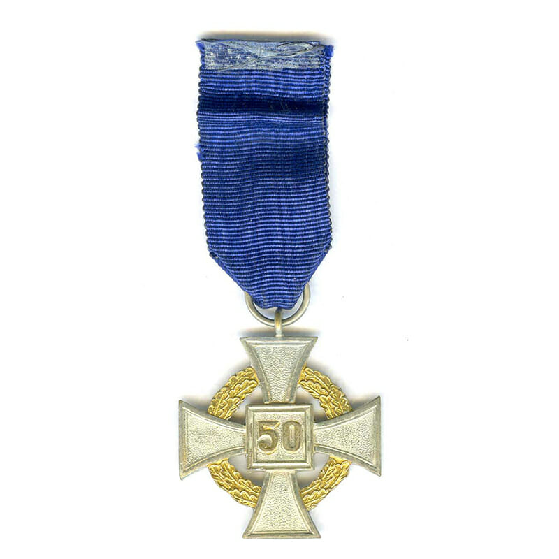 Faithful Service Cross 25 years  gilt denazified issue good quality(L21442)  E.F... 1