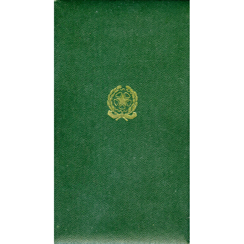 Republic Order of Merit  Knight  in embossed case of issue with lapel... 2
