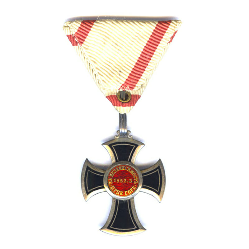 Order of Danilo 5th Class Knights Silver Cross in silver 2
