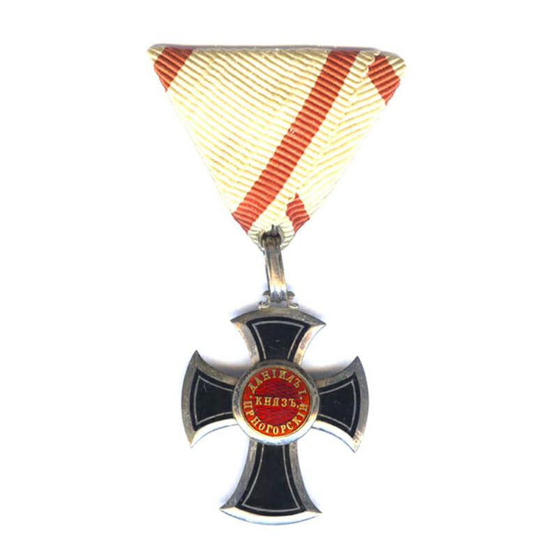 Order of Danilo 5th Class Knights Silver Cross in silver 1