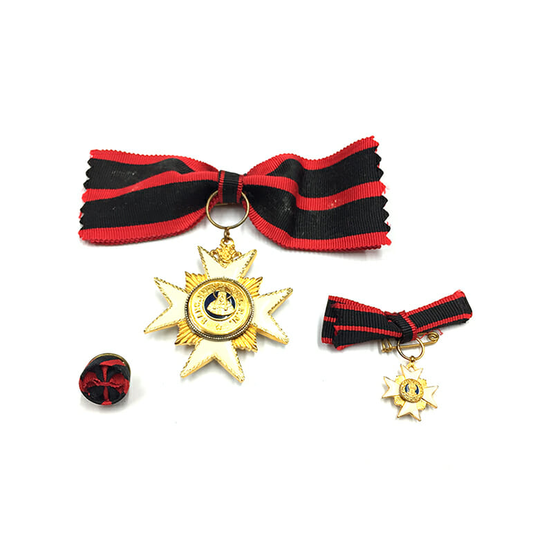 Order of  St. Sylvester Knight  bow ribbon 1