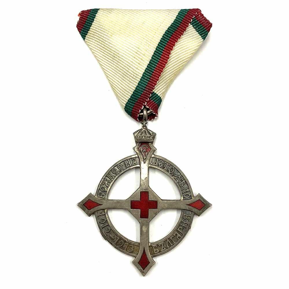 Queen Eleonora Cross 1913 for the Red Cross in the Balkan Wars... 1
