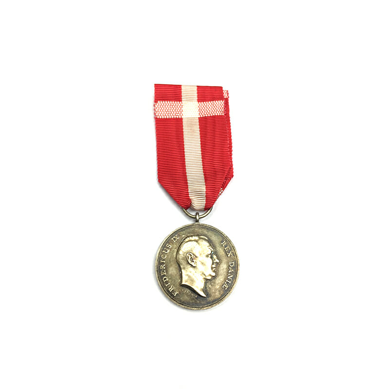 Medal of Recompense Frederick IX  silver 1