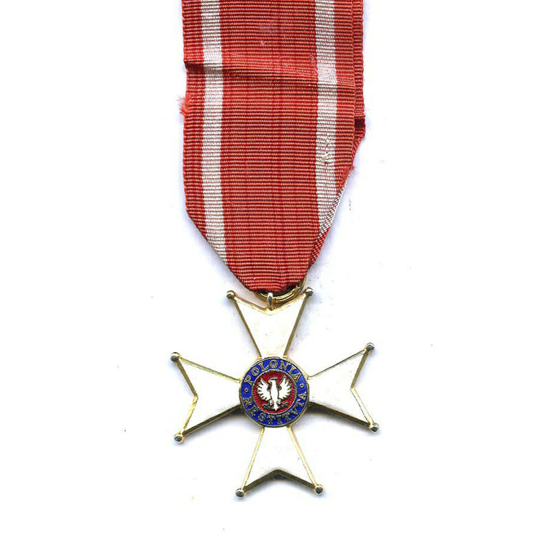 Order of Polonia Restituta 1944 knight  with original award booklet dated 1976 1