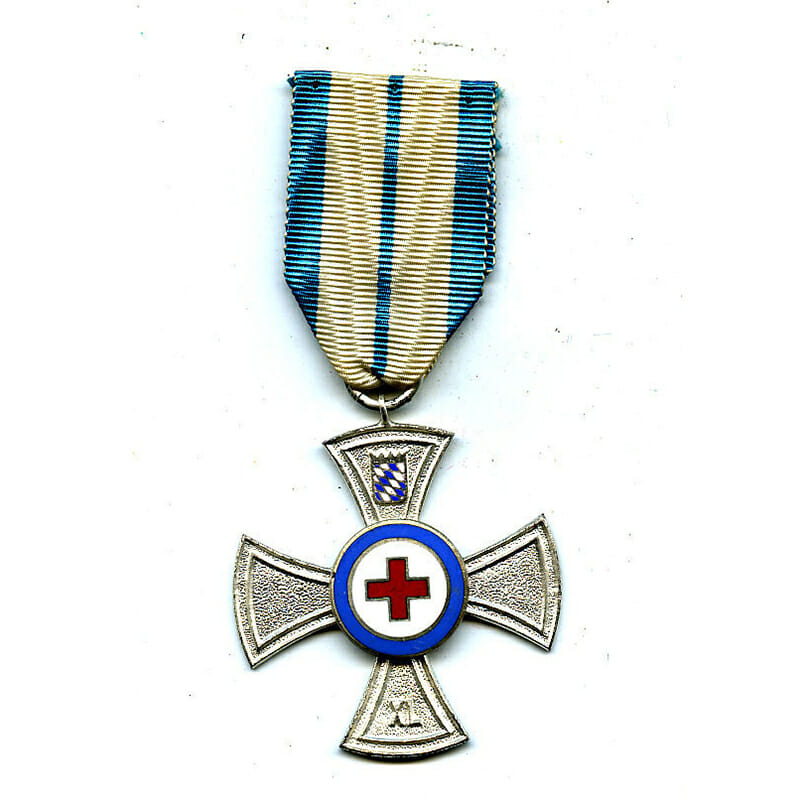Red Cross 40 years  silvered  and enamel cross 1