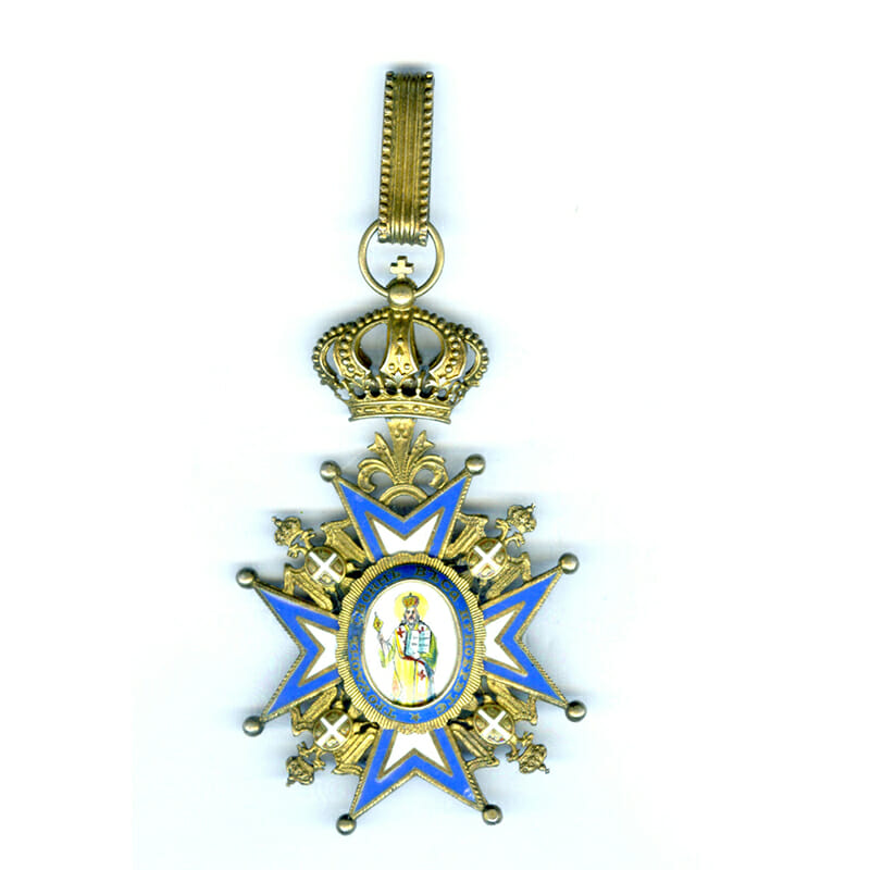 Order of St. Sava Commander 2nd Type  Green Robes 1