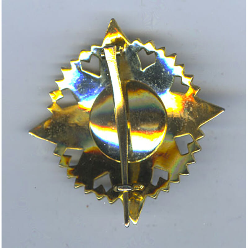 Order of the Crown Grand Cross breast star 2nd type 2