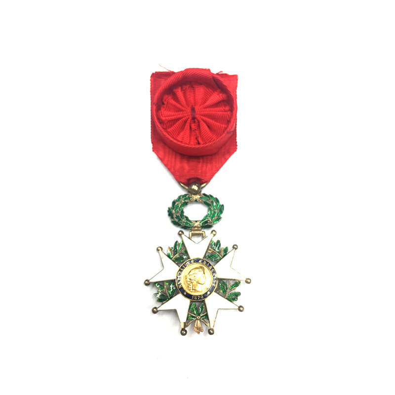Legion D'Honneur 1870-1951 Officer with gold centre some repairs otherwise 	(L25956)  V.F... 1