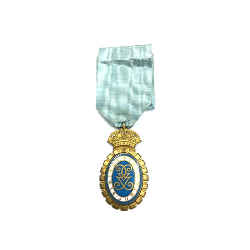Gustav V 70th Birthday decoration 1928 gilt 1