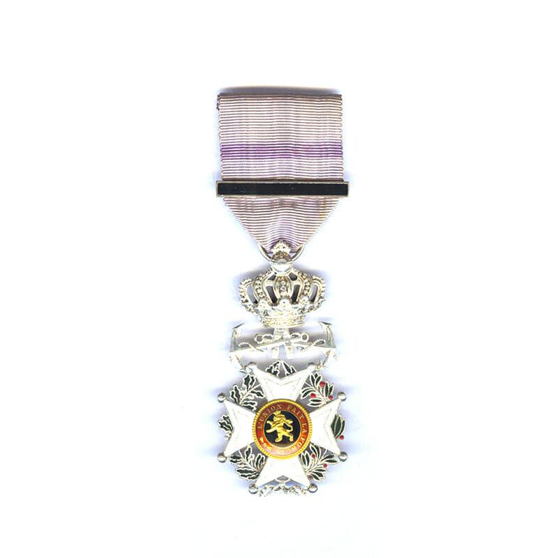 Order of Leopold French  Knight  badge Naval issue with Anchors 1