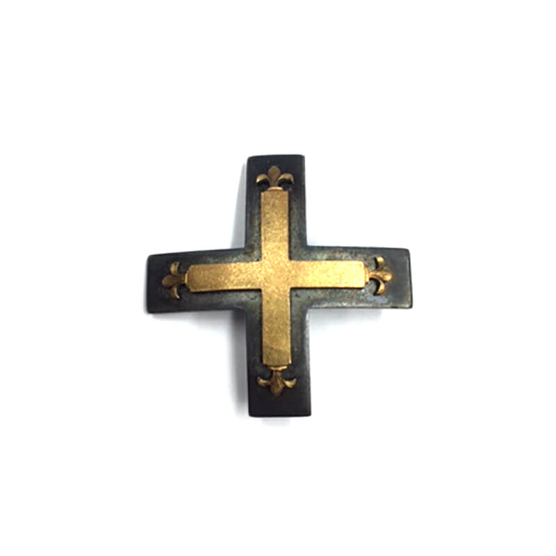 Baltic Cross 1st class pinback  Iron with gilded brass front 1