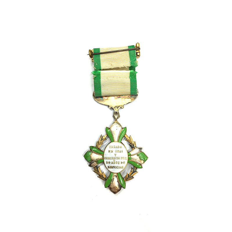 Mexico Cross for  Military Long Service Constancia 2