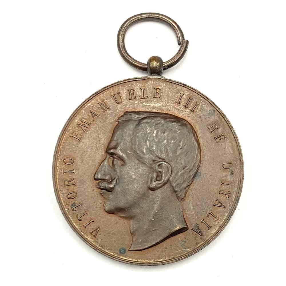 Messina Earthquake Medal of Merit 1908 large bronze 35mm 1